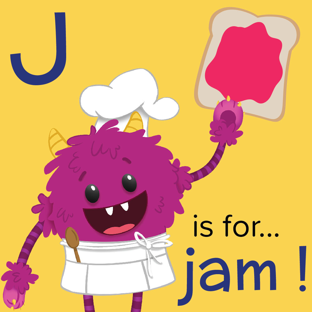 J is for Jam - Nomster Chef