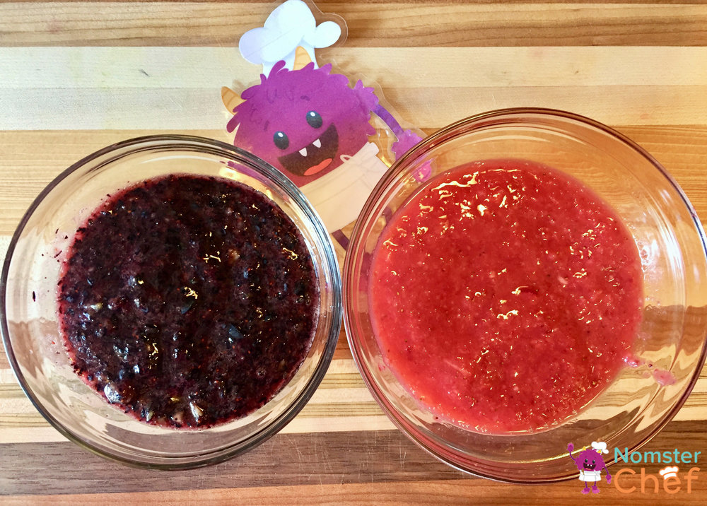Strawberry Blueberry-4th of July Ice Pops - Nomster Chef Blog Recipe