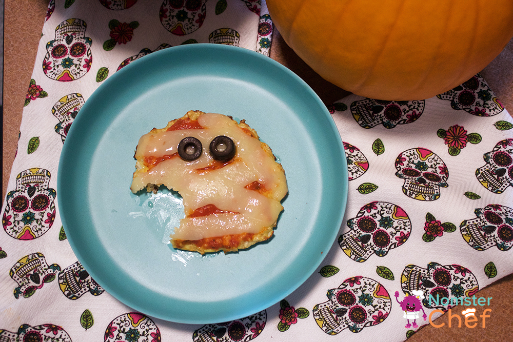 Halloween Recipe for Kids - Mini Mummy Pizzas