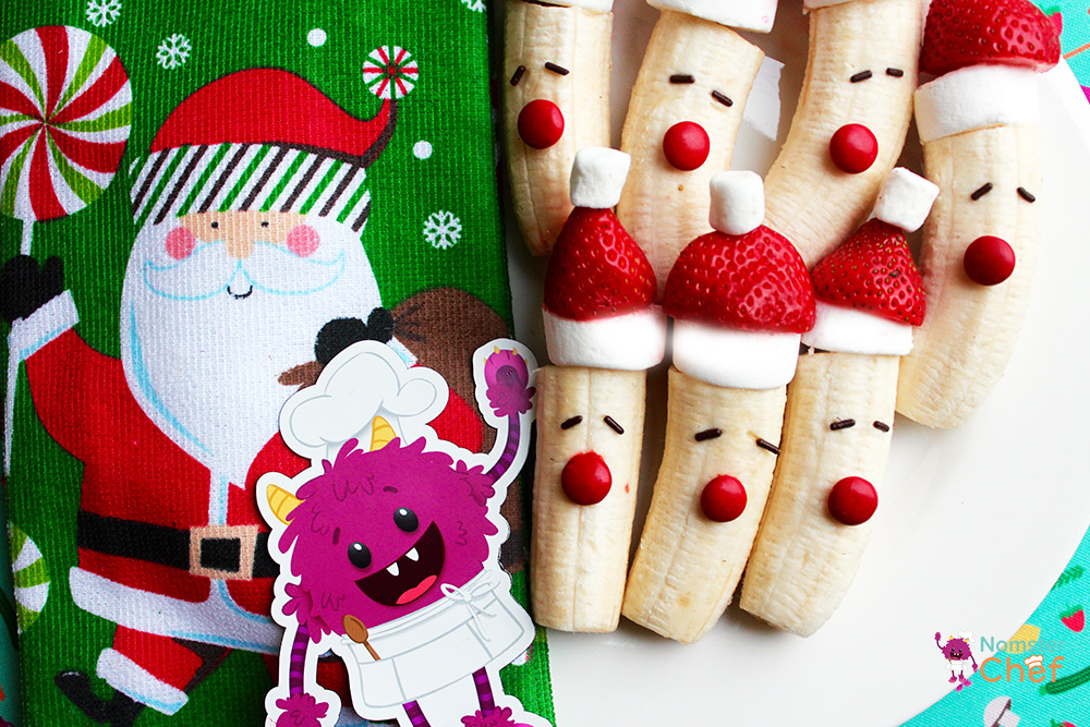Nomster Chef Christmas Cooking With Kids Strawberry Santa Pops