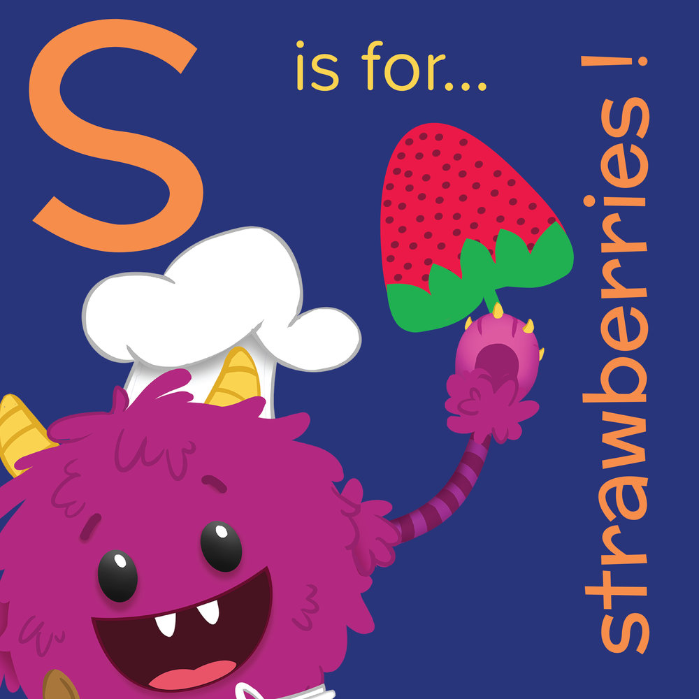 S is for Strawberry- Nomster Chef