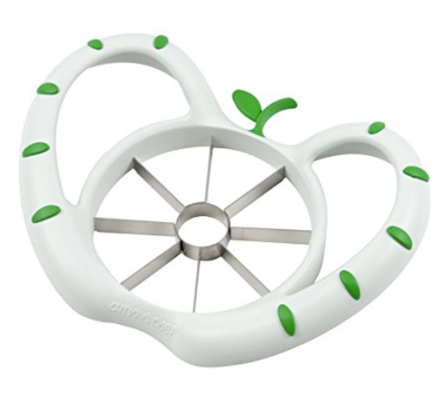 Curious Chef Kids Apple Slicer - Core and slice your apples all in one step! This apple slicer is designed specifically for kids, and has great handles to help kids keep control. It is even adorably shaped like an apple!