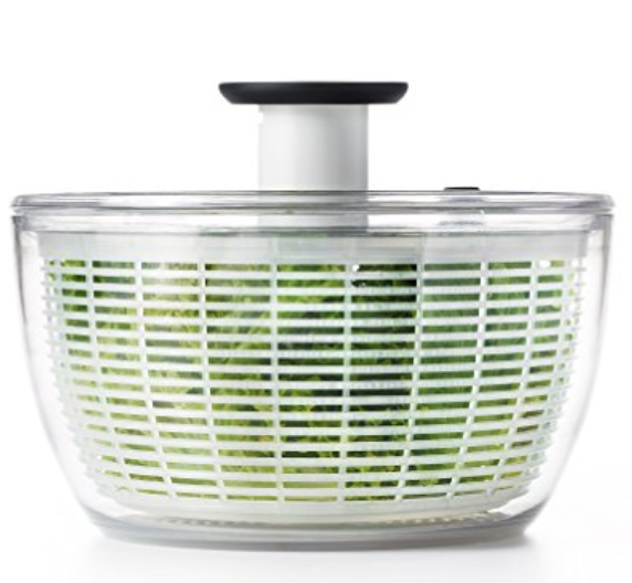 Oxo Salad Spinner - Let's face it- it's even fun for grown-ups to dry out salad greens, veggies, and herbs in a salad spinner. Let the littles get in on the fun.