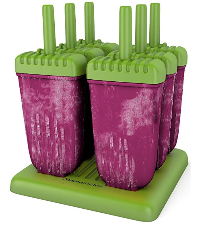 Mamasicles Popsicle Molds - These are indispensable come summer time! Blend fruit, pour into the mold, put the top on, and stick in the freezer in the handy base. When it's frozen, quickly run the mold under warm water and the popsicle slides right out of the mold. We love these for making healthy desserts.