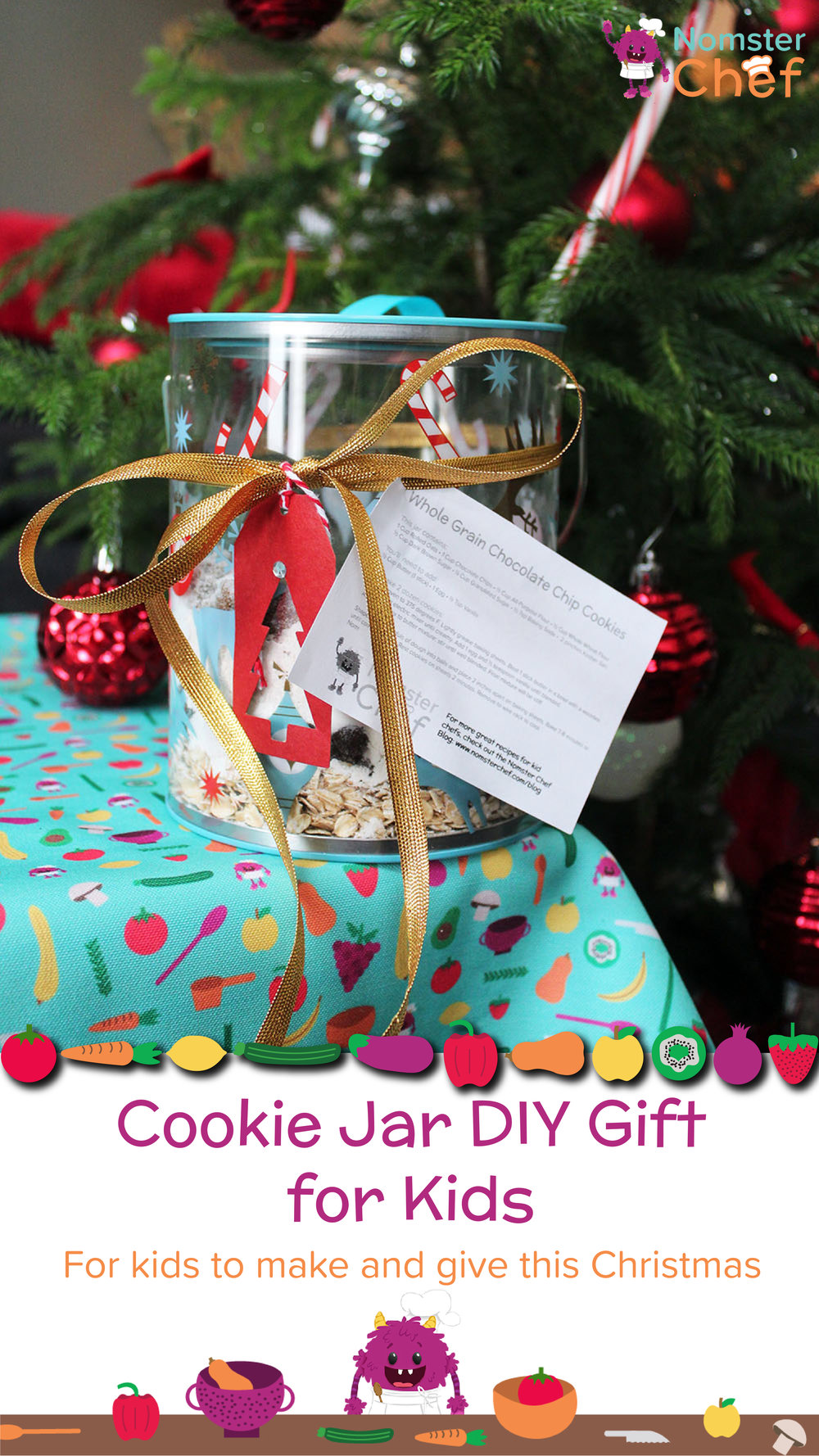 Nomster Chef | Cookie Jar Gift DIY for Kids | Fun food recipes for ...