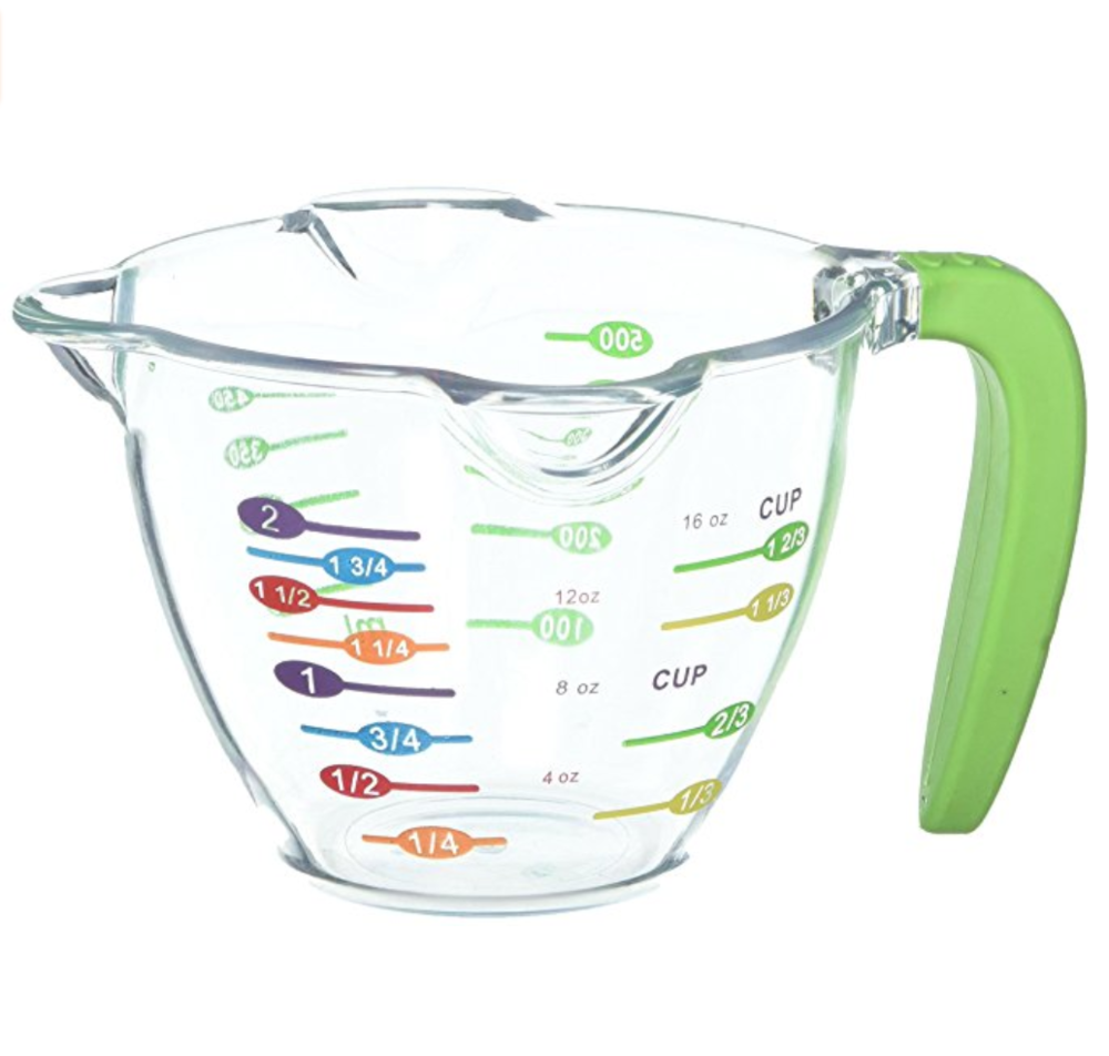 Curious Chef Liquid Measuring Cup - This measuring cup is designed to make it super easy for kids to find the measurement they're looking for.