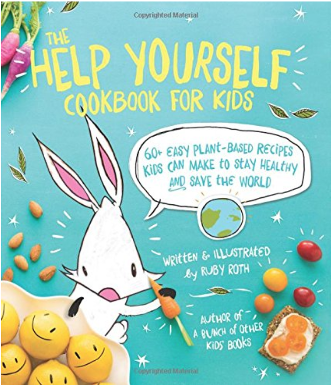 The Help Yourself Cookbook for Kids - This cookbook has an inviting design that will charm kids and adults alike! All recipes are vegetarian.