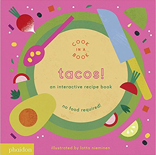 Cook in a Book lift-the-flap book - This interactive book leads kids through the steps of a real recipe, with lift-the-flaps for every step. Don't forget to check out the other recipes in this series (pizza and pancakes!).