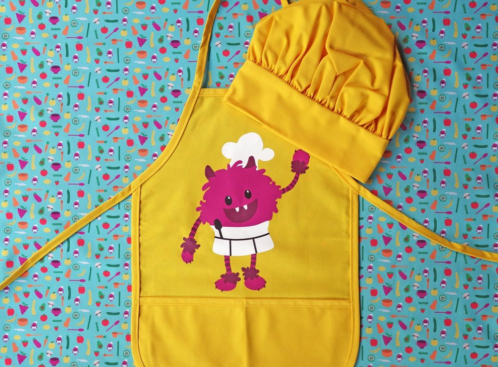 Nomster Chef Apron and hat.jpg