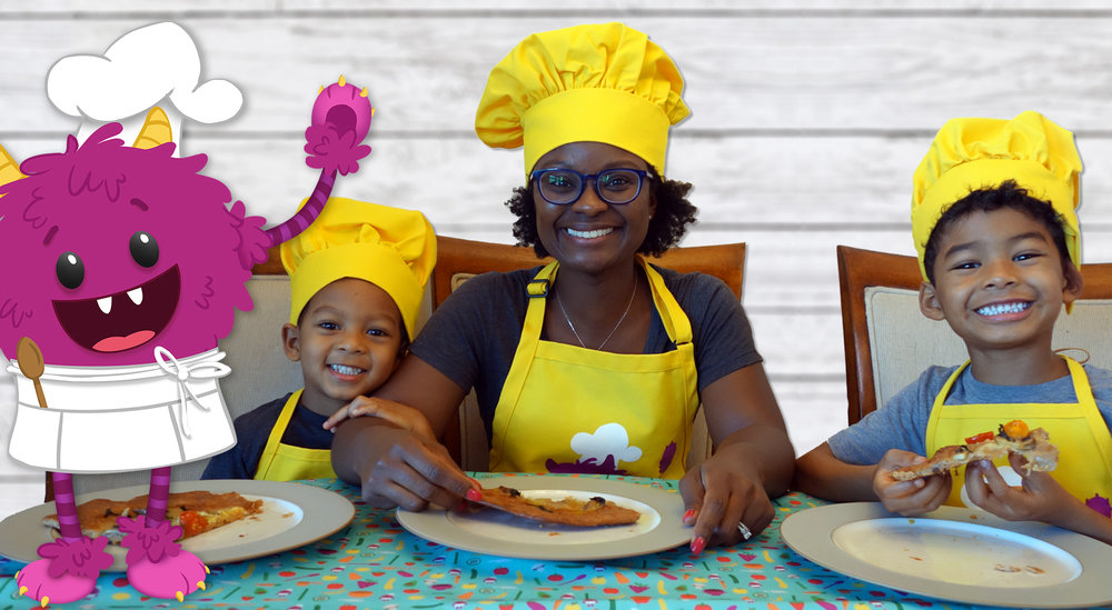 Free 2 week trial of Nomster Recipe Library - Our step-by-step picture book recipes are super engaging for kids and make cooking fun for the whole family. Sign up for a 2 week free trial to try it with your kid chefs.