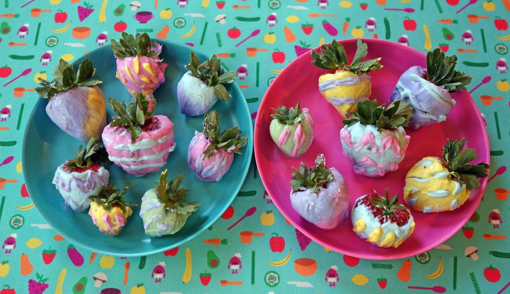 "Yogurt Dipped Strawberry ""Easter Eggs"" -"