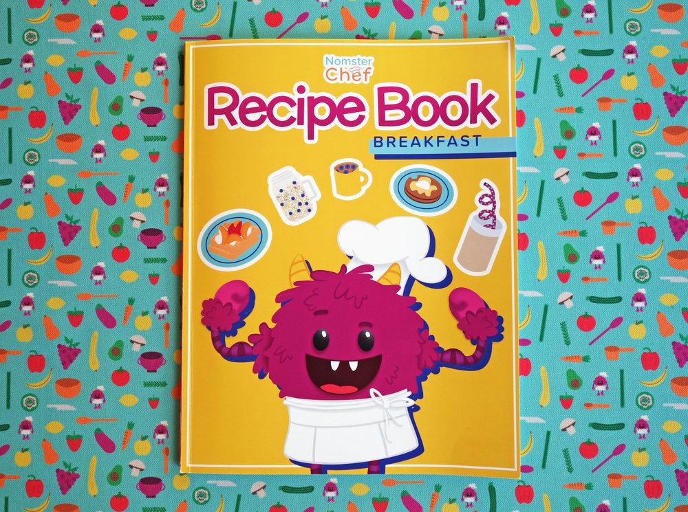 Nomster Chef Breakfast Recipe Book- Cookbook for Kids