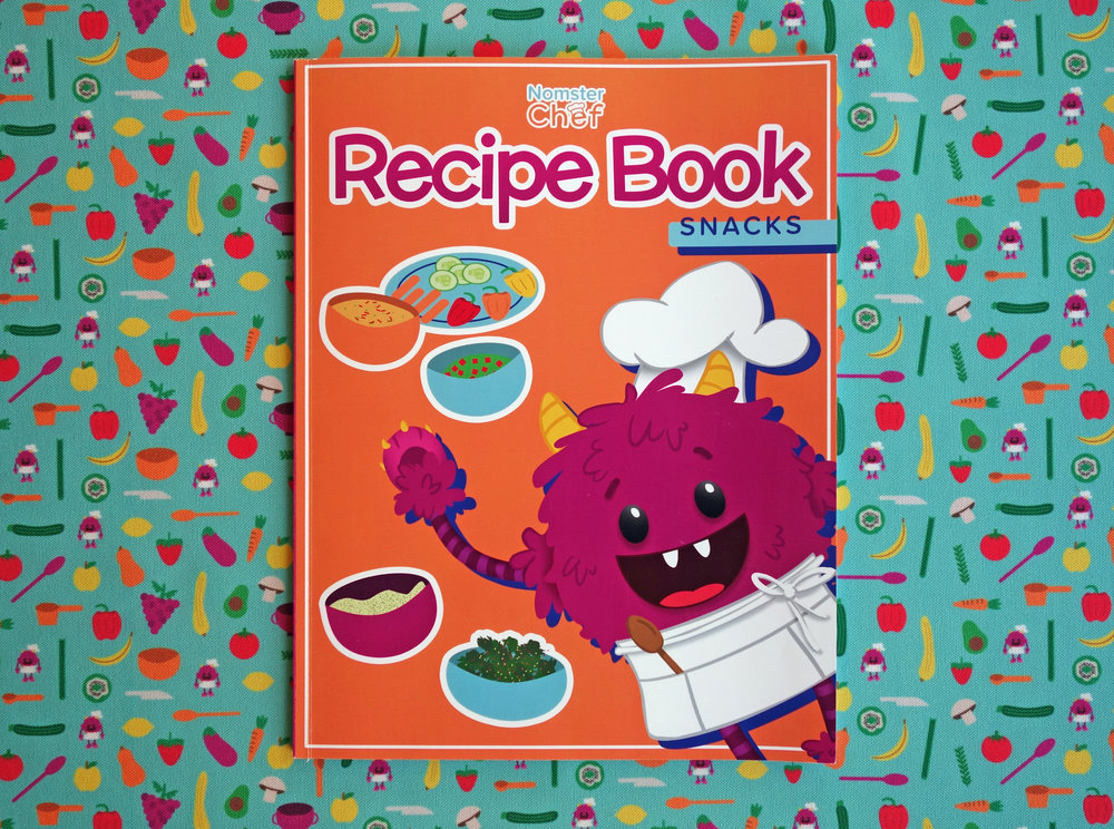 Nomster Chef Recipe Books Snacks - Cookbooks for Kids
