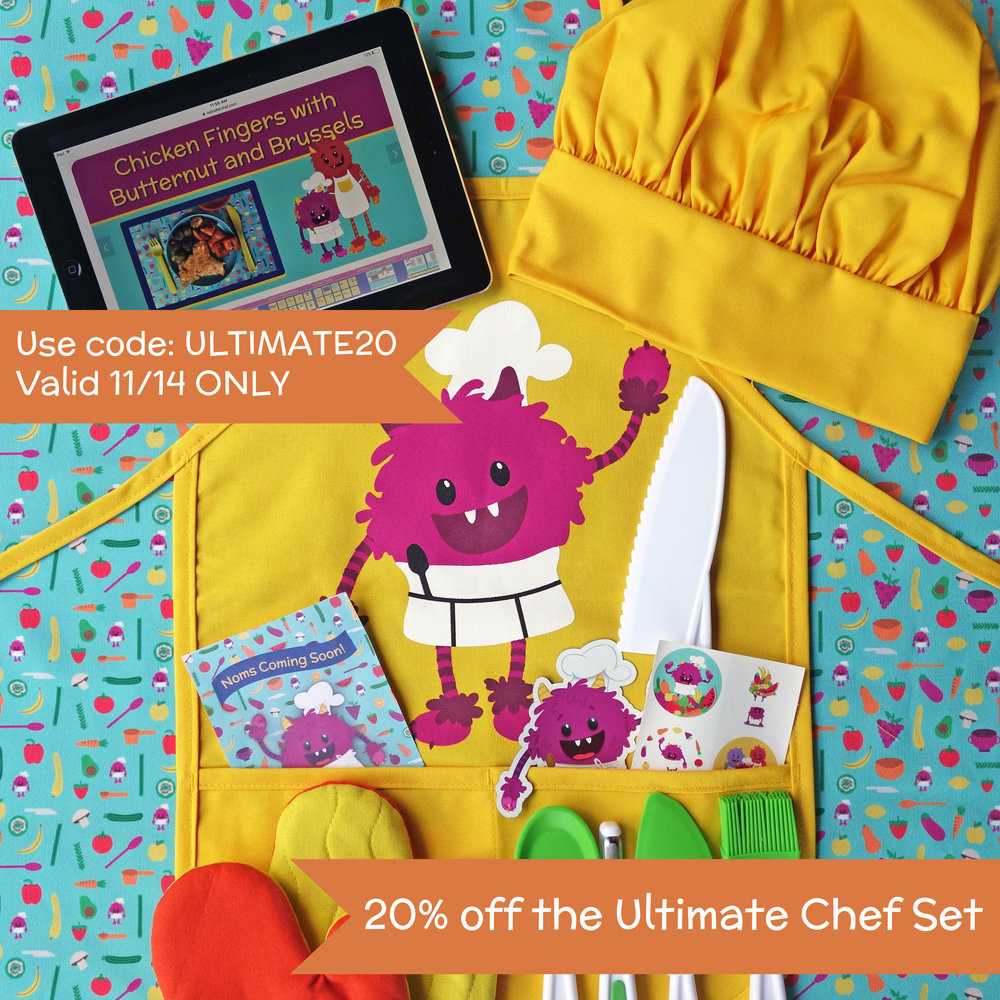 "20% off Ultimate Chef Set - Valid until midnight PST Wednesday 11/14Enter code ""ULTIMATE20"" at checkout"
