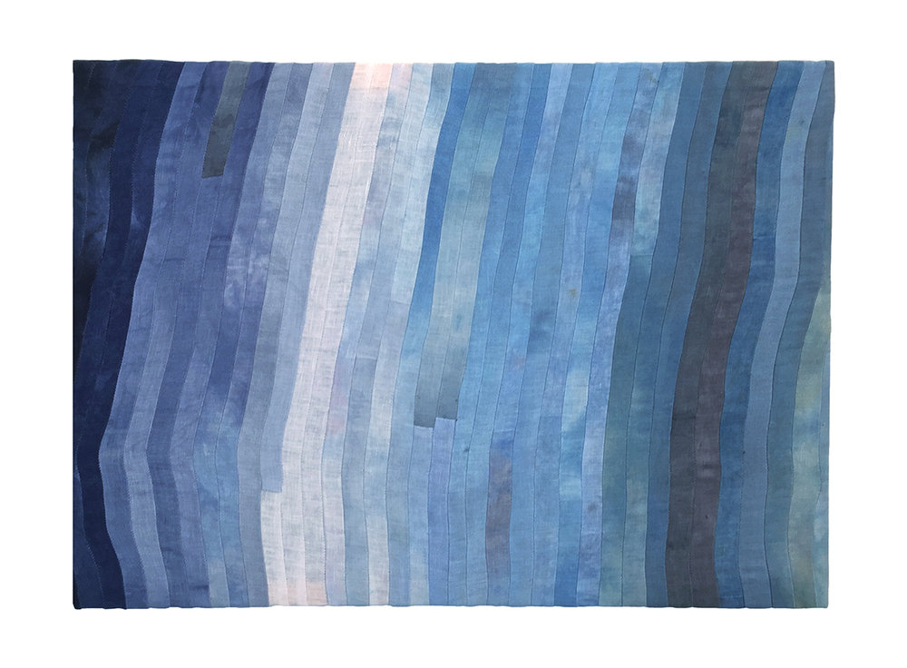 Kelie Bowman  Noise 3, 2016 Dye and thread on linen 14.5 x 33""