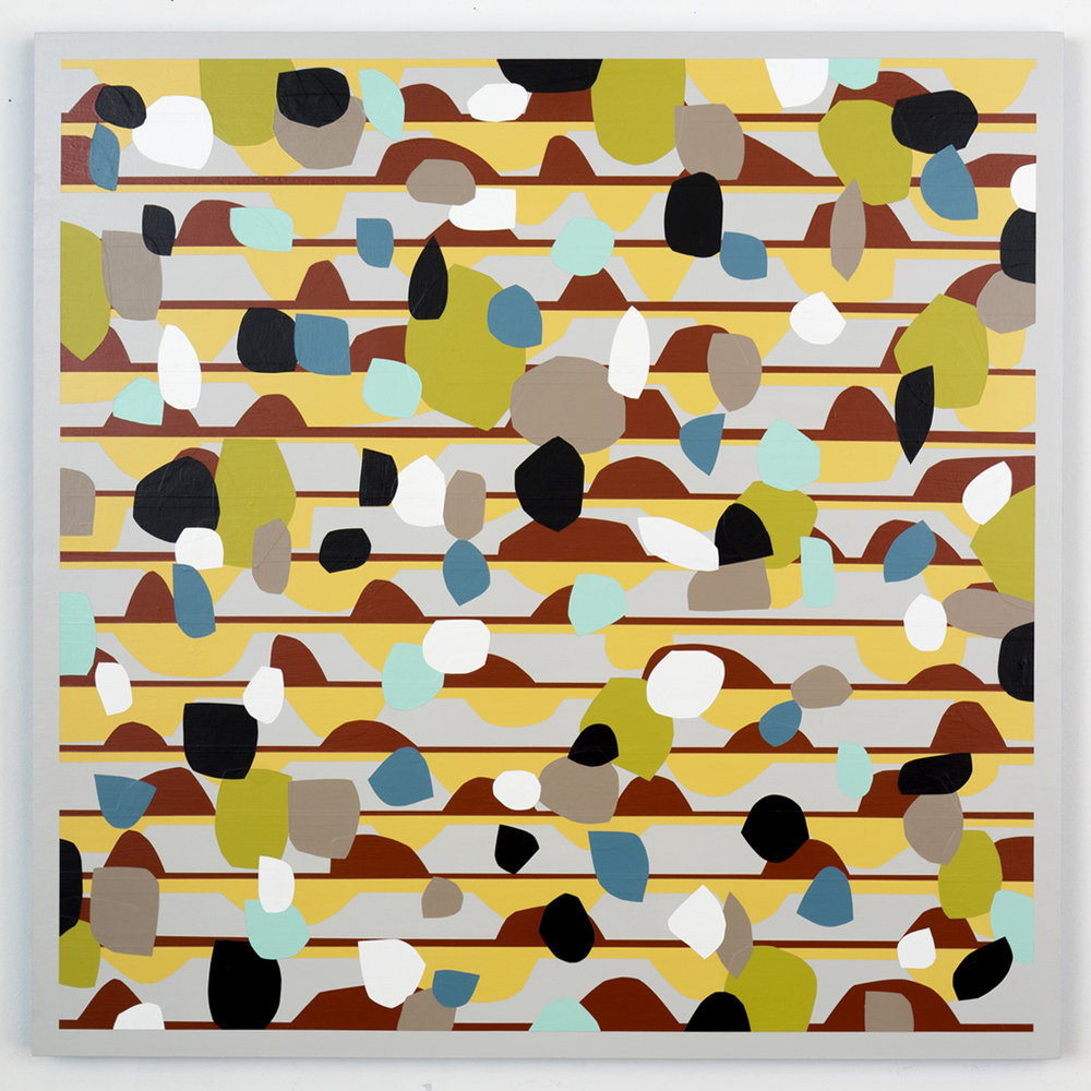 Nick Jaskey Untitled 5, 2015 House paint on wood panel 36 x 36""