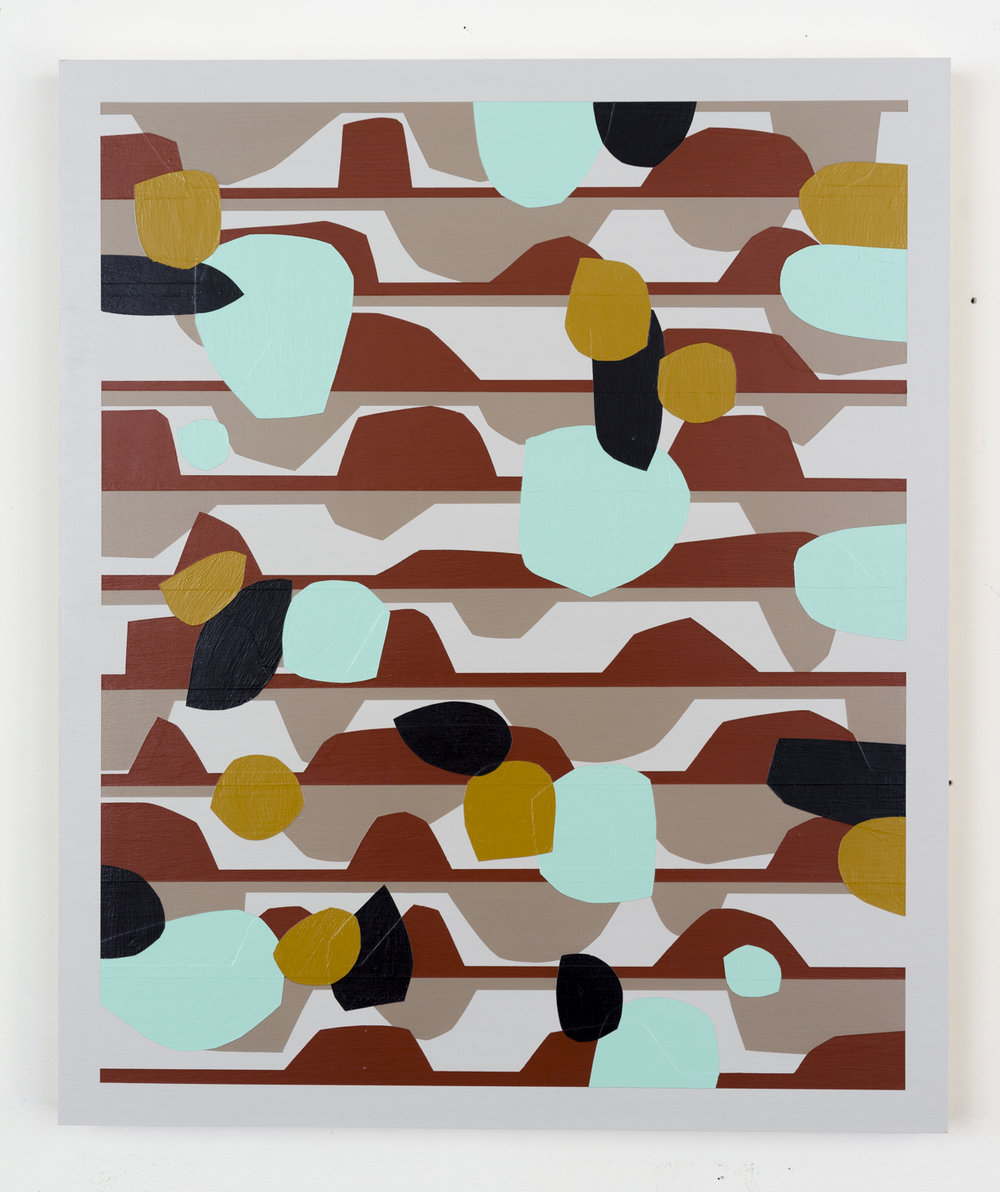Nick Jaskey Untitled 4, 2015 House paint on wood panel 24 x 24""