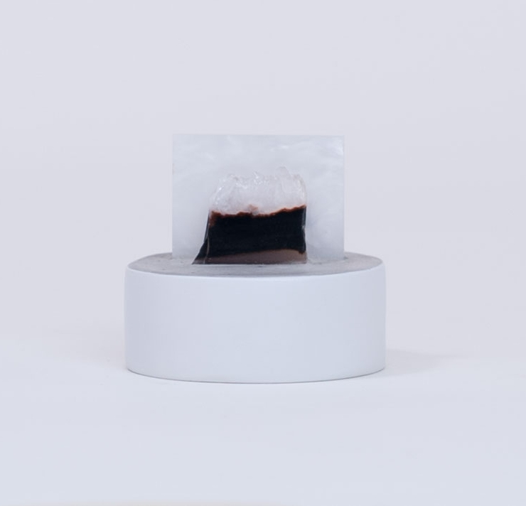 ESTHER RUIZ - Hoth IICement, plexiglas, bloodstone, quartz, paint3 x 3 x 2.5""