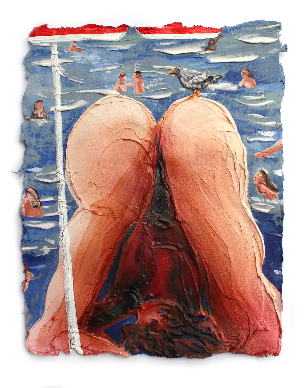 Kate Klingbeil - Beach BodyAcrylic on acid free Japanese rag paper9