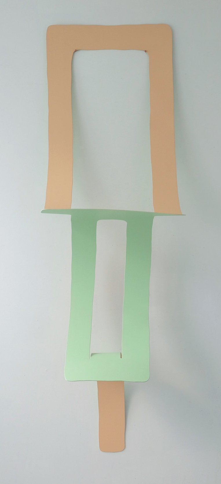 Folder - acrylic on bending poplar with copper nails79
