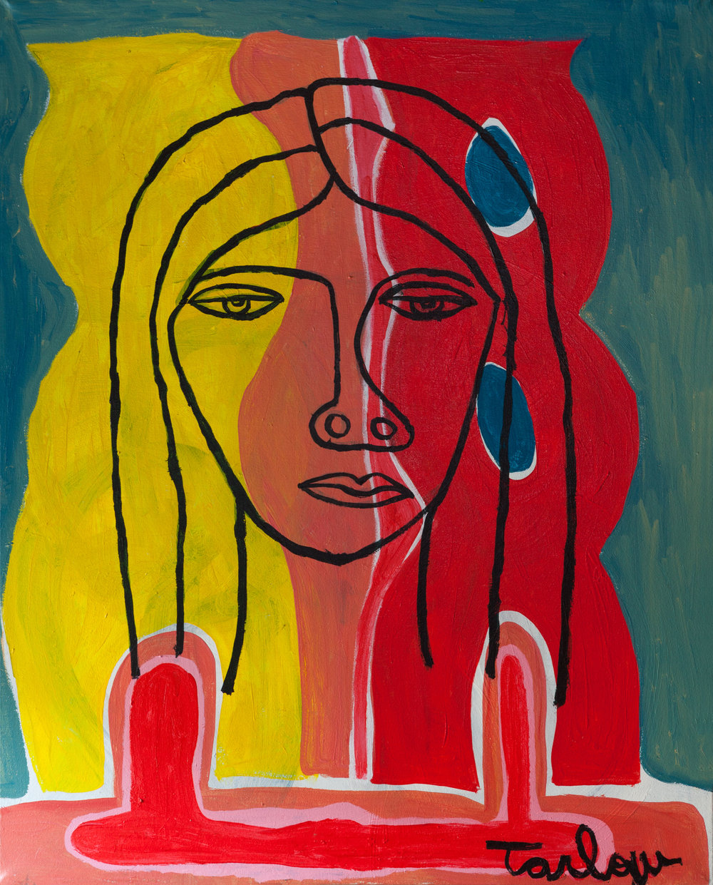 Béa - Acrylic on canvas30 x 24 inches$2,000(Click on image for detail)