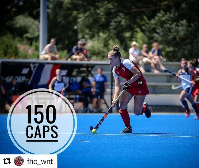 We would also like to congratulate Brie Stairs on her 150th cap!! You're a superstar! #grayscanada #fhcwnt #fieldhockeycanada