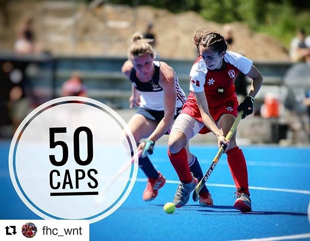 Congratulations to Nikki Woodcroft for reaching her 50th cap with Team Canada! Keep up the amazing work Nikki! #grayshockey #fhcwnt #fieldhockeycanada