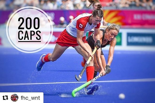 Kate Gillis is officially the first Canadian Female Field Hockey athlete to reach 200 caps! Congratulations on this amazing milestone Kate! Your hard work and commitment to your sport is inspiring to the next generation. #200caps #teamcanada #fieldhockeycanada
