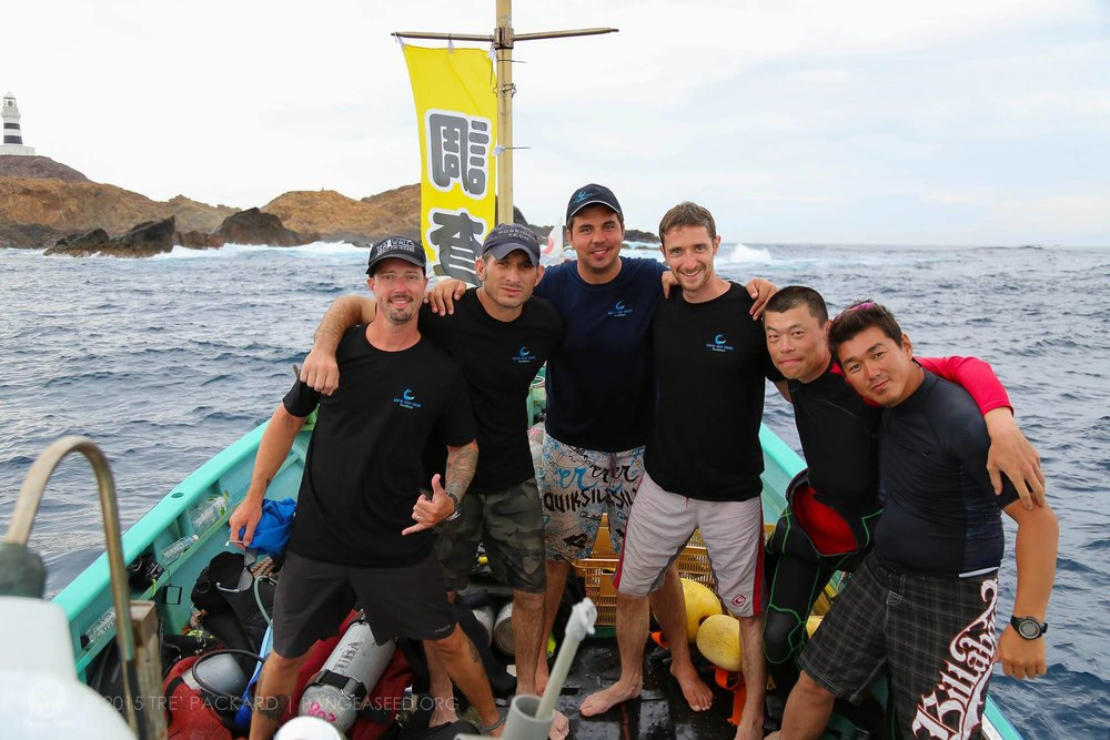 Leading the first-ever shark research trip in Japan to study the movements of hammerhead sharks.