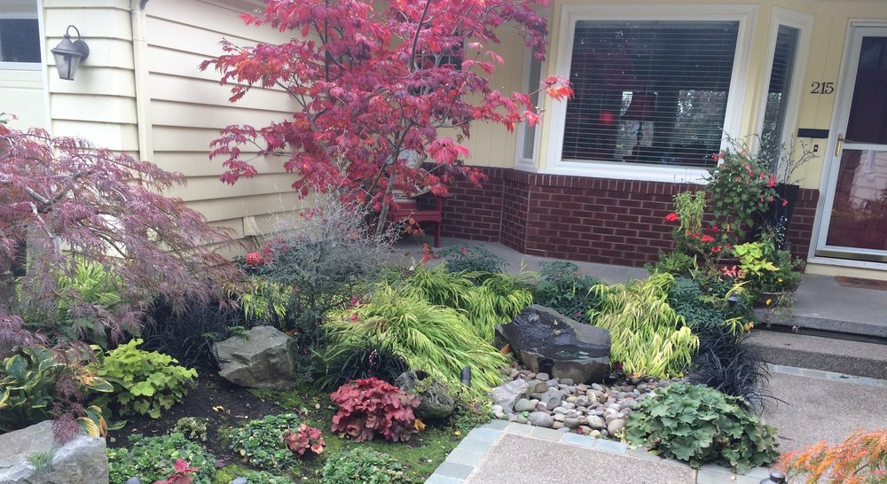 Sometimes A Water Feature In The Front Yard Can Be The Perfect Addition To  Landscape. This Entryway Is Small And A Gurgling Rock Accentuates The Front  Door ...