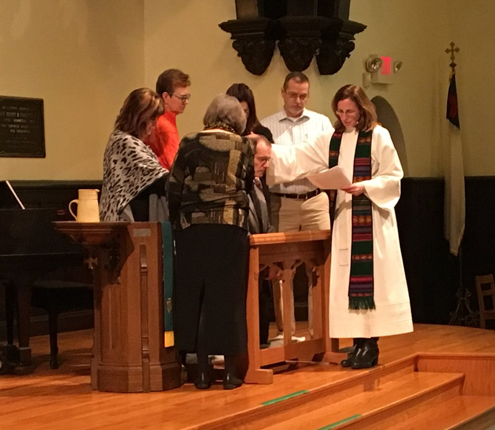 Bob Hedglin is commissioned as a Stephen Minister on Sunday, February 12.