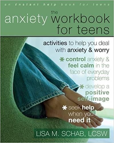 Series for Teens  - The Anxiety Workbook for Teens is one of many good resources recommended to us by professional therapists who work with teens and families. Other workbook topics include Emotions, Anger, Self-Esteem, Shyness, Negative Thinking and Mindfulness.Here's the Amazon link:http://amzn.to/2xmE08X