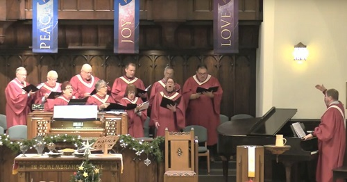 "CPCBA Chancel Choir sings ""O'er the Hill and O'er the Vale,"" by Anthony Baldwin"