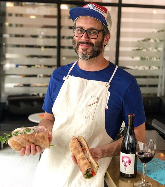 Thanks to everyone who came out last night for @pizzacamp's hoagie-fest and @lasjaraswines' 💥�?�! 'Til next time! 😚 #drinkcaliforniawines rp 📷: @ericwareheim
