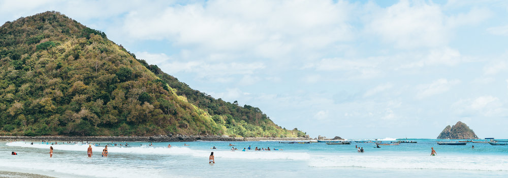 Our favorite Kuta Lombok beach!