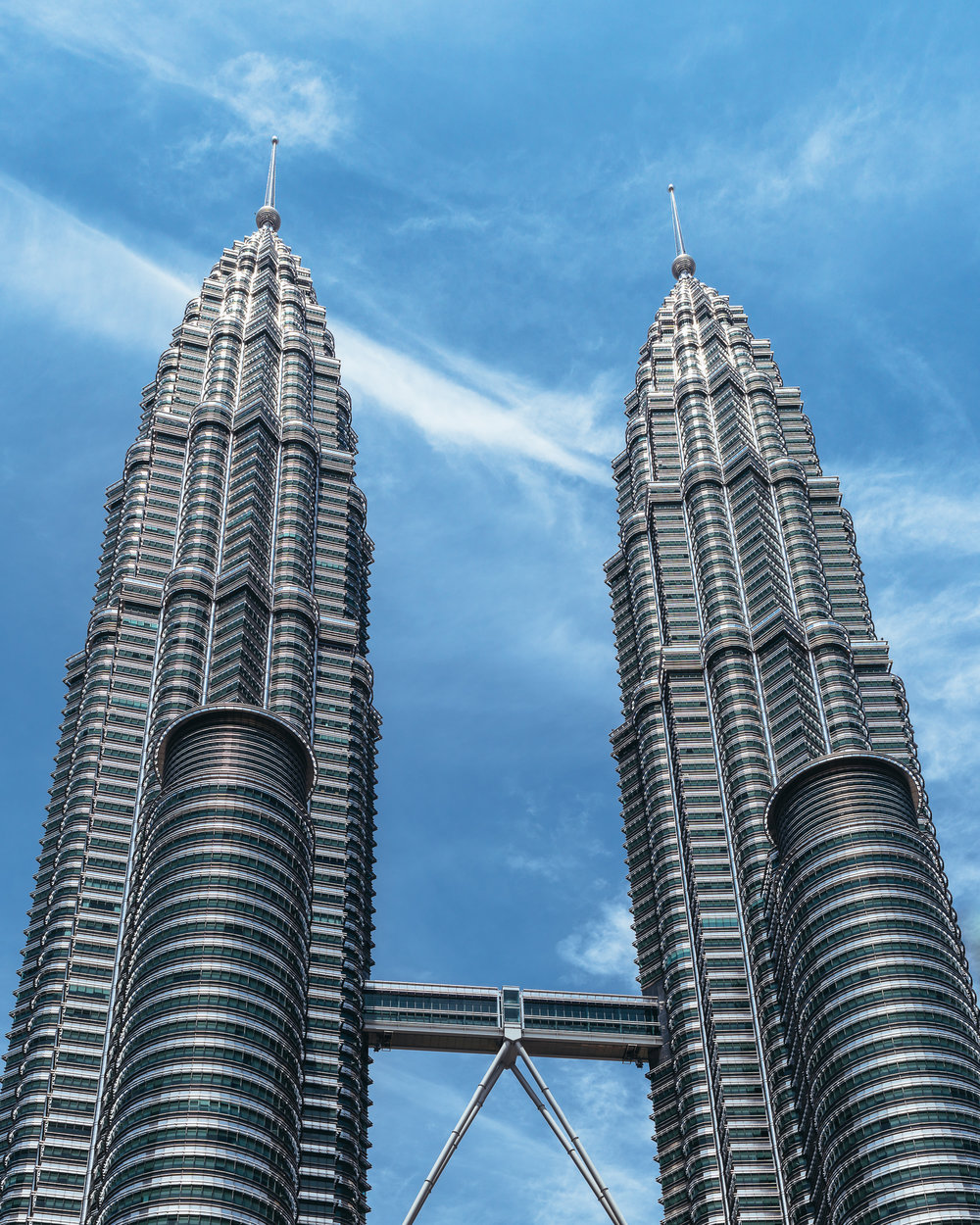 Petronas Towers, minus the hundreds of tourists and locals on the ground floor.