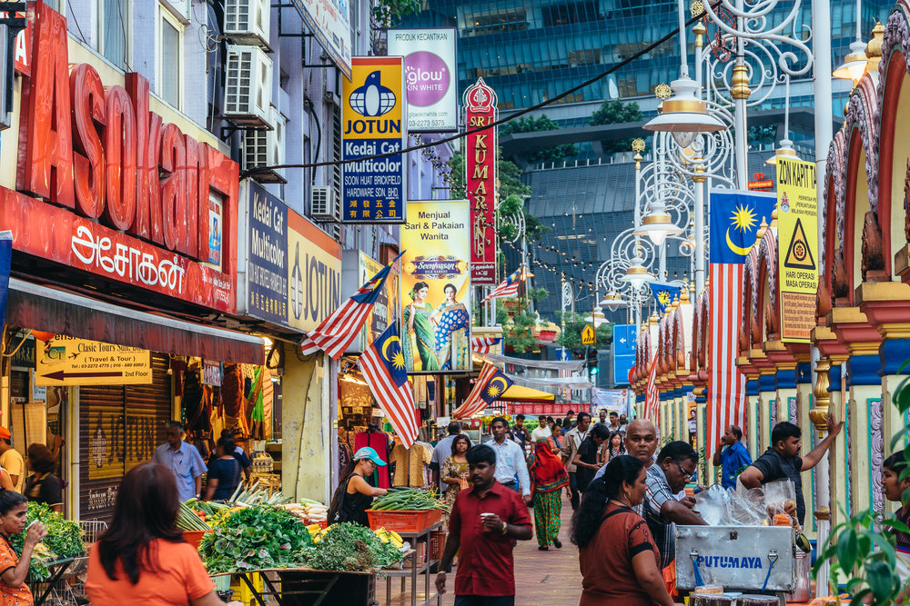 Little India at dusk – busy as always
