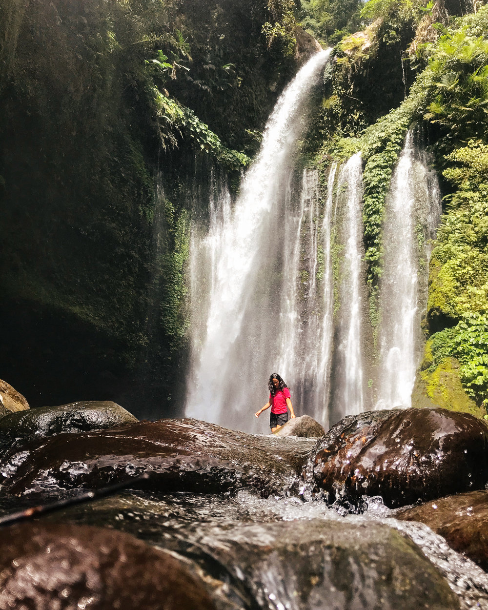The Tiu Kelep waterfall is so much more majestic than it seems in photos!