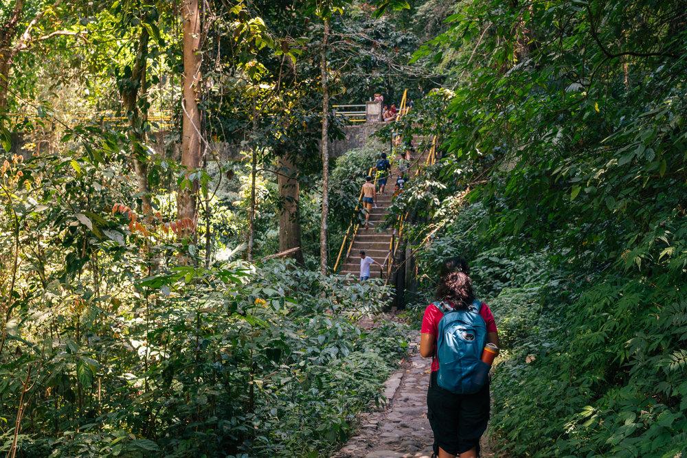 Crossing this bridge will get you closer to Tiu Kelep waterfall.