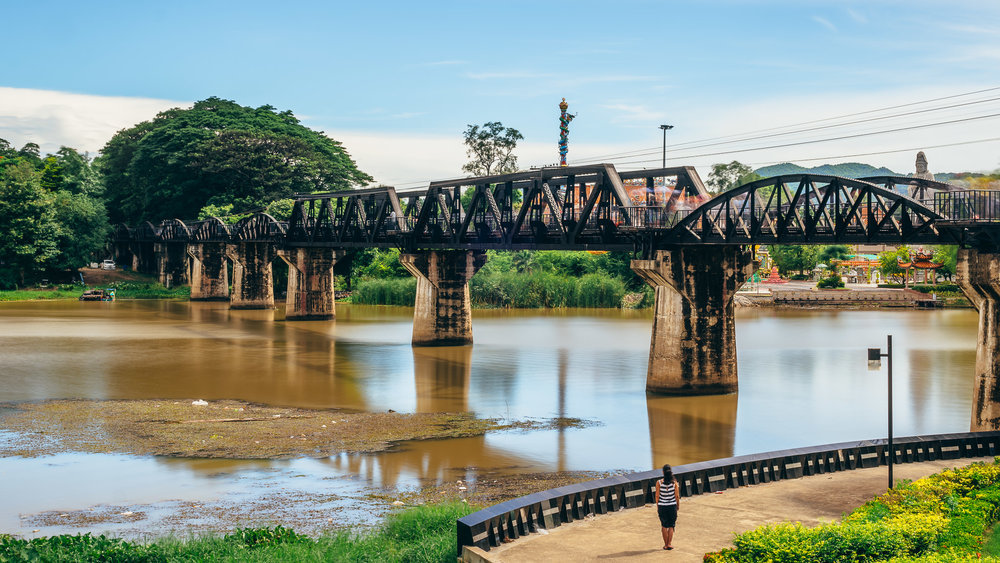 River Kwai Bridge is a small portion of the Thailand-Burma Railway, which was collectively built by hundreds of thousands of POWs and Asian slave workers in 1942.