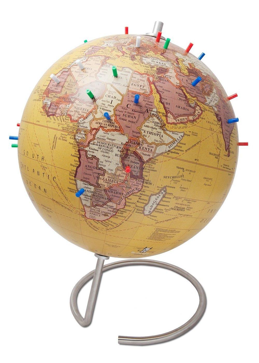 Magnetic Standing Globe (for desks) -
