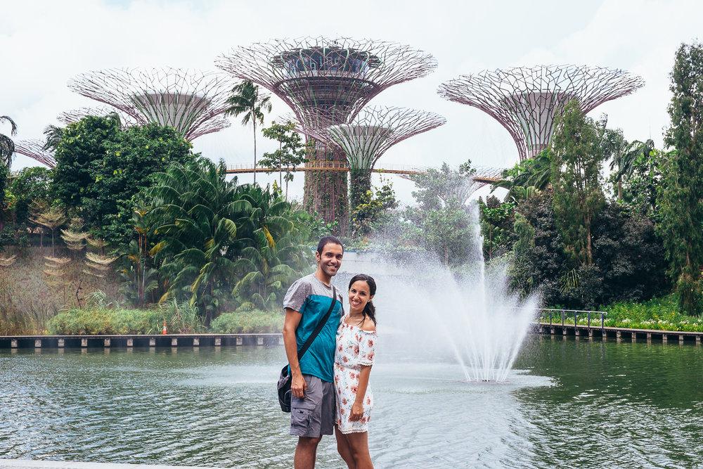 Singapore was the magical place that we weren't expecting. Part of the allure of this city was this 250-acre nature park known as Gardens by the Bay. We are dying to go back and take more corny pictures like this one.