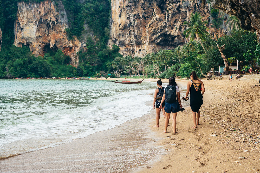 Spending my birthday weekend with new friends going on improvised adventures at Railay beach, Thailand.