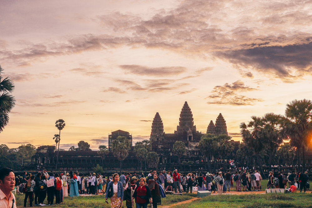 Angkor Wat at Sunrise, AFTER the crowds had dispersed.