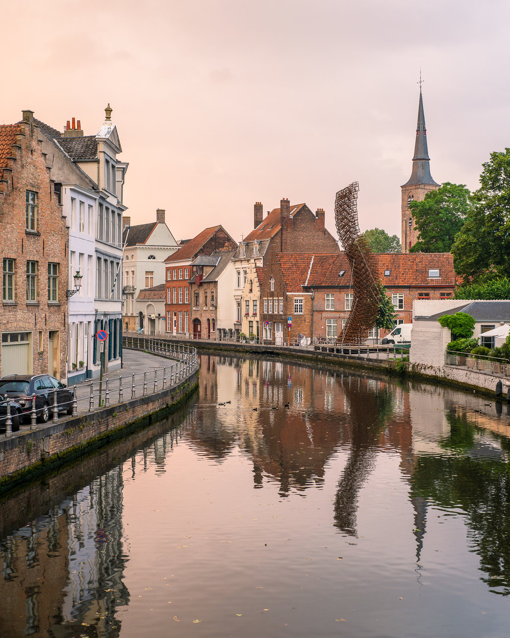 Bruges Canal at Sunset