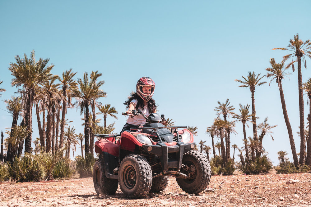Quads in action – Marrakesh