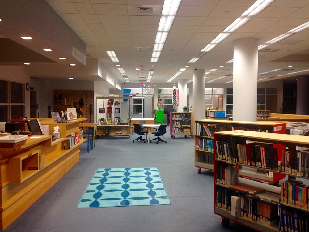 The transformed Library at the end of the summer.