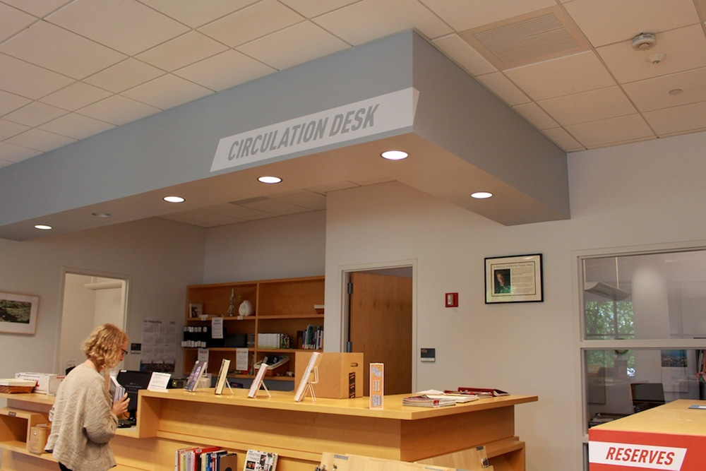 The new Circulation Desk supergraphic.
