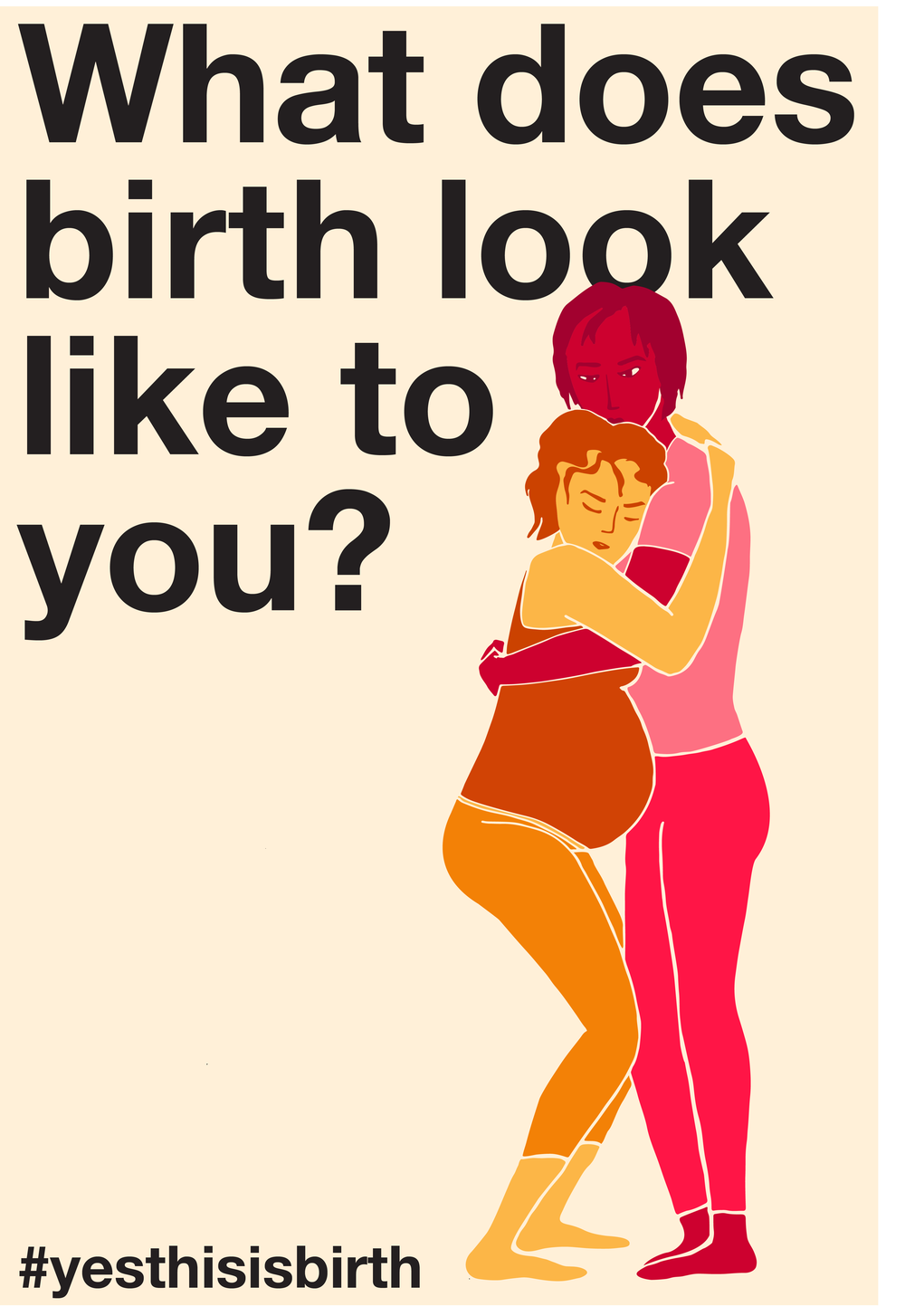 "A person in labor doing the ""doula hula."" Captioned ""What does birth look like to you? #yesthisisbirth."""