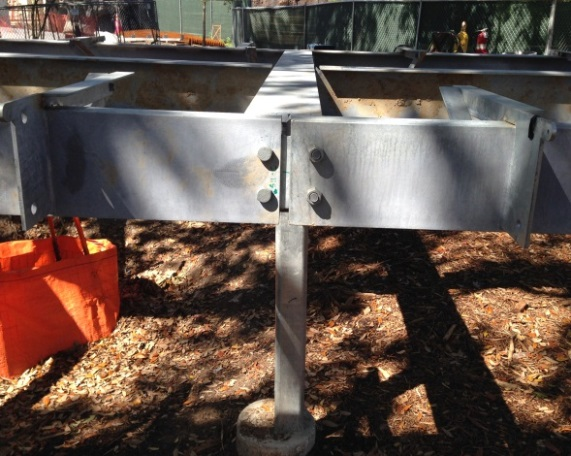 Houston Zoo - 3 boardwalk steel framing - under construction.jpg